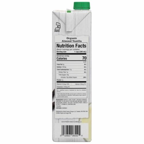 Pacific Vanilla Almond Beverage Perspective: right
