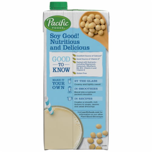 Pacific Ultra Soy Original Non-Dairy Beverage Perspective: right
