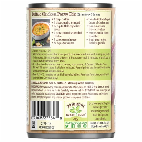 Pacific Organic Cream of Chicken Condensed Soup Perspective: right