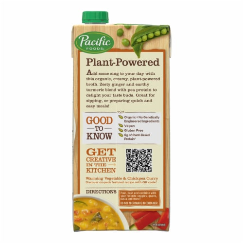 Pacific Foods® Organic Zesty Ginger & Turmeric Broth Perspective: right