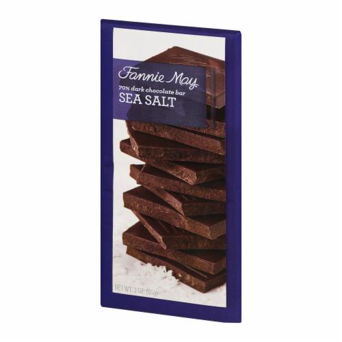Fannie May Sea Salt 70% Dark Chocolate Bar Perspective: right