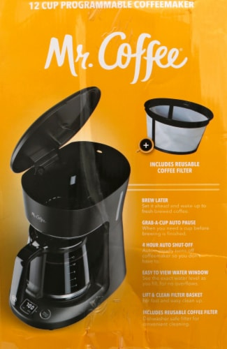 Mr. Coffee® Programmable Coffee Maker - Black Perspective: right