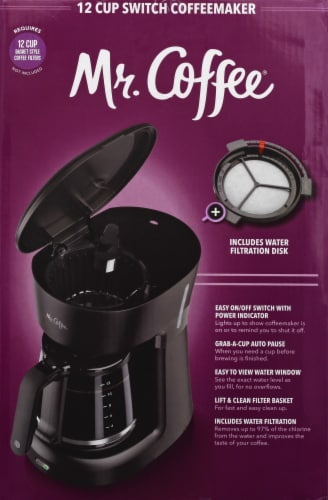 Mr. Coffee® Switch Coffeemaker - Black Perspective: right