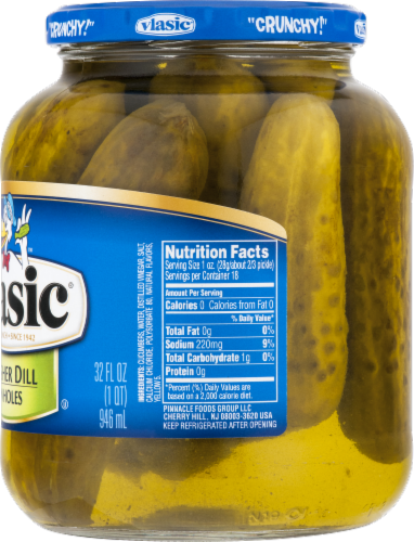 Vlasic Kosher Dill Pickles Perspective: right