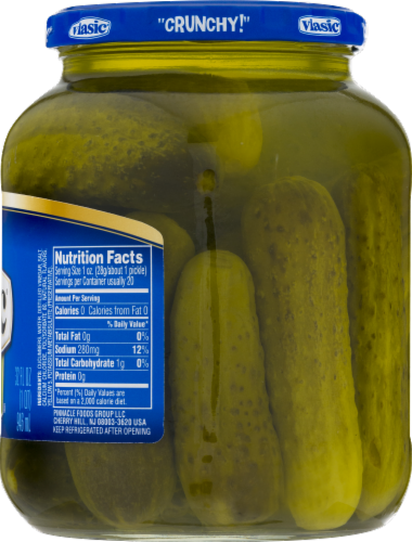 Vlasic Kosher Dill Baby Wholes Pickles Perspective: right