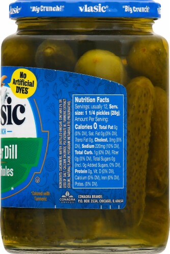Vlasic Baby Wholes Kosher Dill Pickles Perspective: right