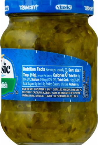 Vlasic Dill Relish Perspective: right