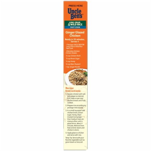Uncle Ben's Flavored Grains Fast Cook Long Grain & Wild Rice Perspective: right