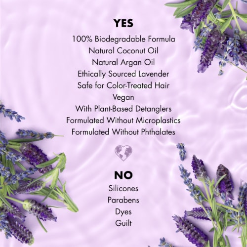 Love Beauty and Planet Smooth and Serene Argan Oil & Lavender Shampoo Perspective: right