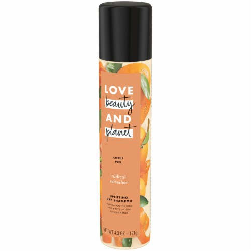 Love Beauty and Planet Radical Refresher Citrus Peel Uplifting Dry Shampoo Perspective: right