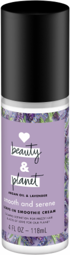 Love Beauty and Planet Smooth and Serene Argan Oil & Lavender Leave-in Smoothie Cream Perspective: right