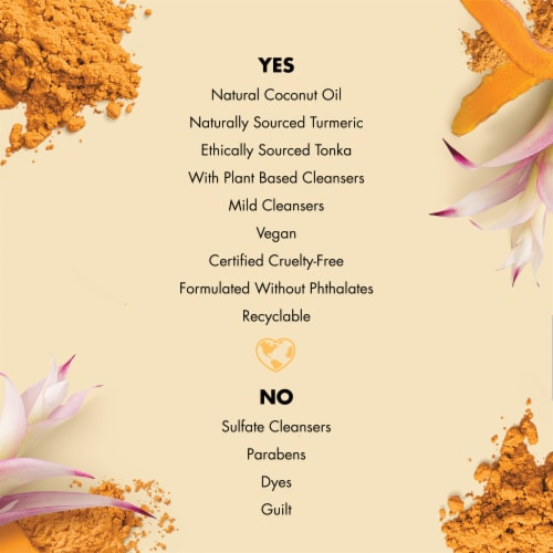 Love Beauty and Planet Turmeric & Tonka Essence Body Wash Perspective: right