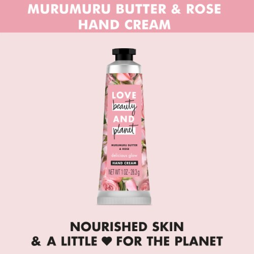 Love Beauty & Planet Delicious Glow Murumuru Butter & Rose Hand Cream Perspective: right