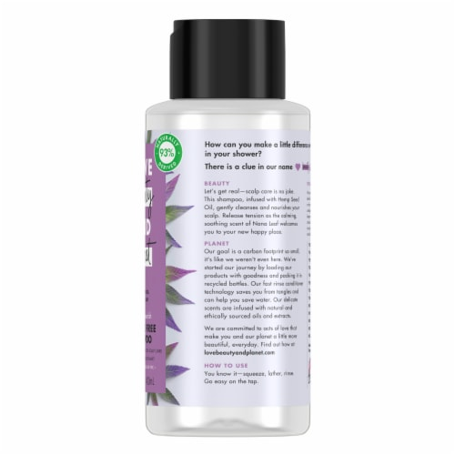 Love Beauty and Planet Hemp Seed Oil and Nana Leaf Shampoo Perspective: right