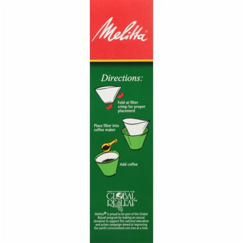 Melitta #4 Cone White Paper Coffee Filters Perspective: right
