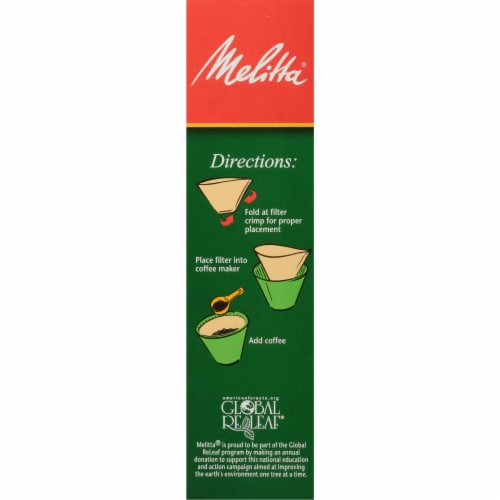 Melitta #4 Cone Coffee Filters - Natural Brown Perspective: right