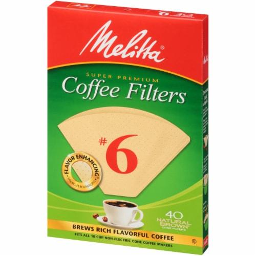 Melitta Super Premium #6 Paper Cone Coffee Filters Perspective: right