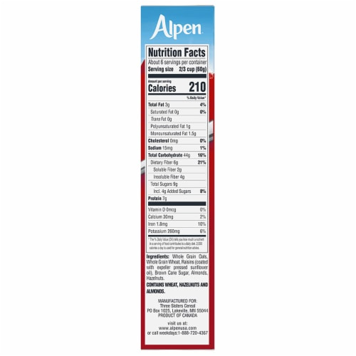 Alpen Original Muesli Cereal Perspective: right