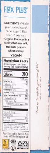 Nature's Path Organic Flax Plus Instant Oatmeal Packets Perspective: right