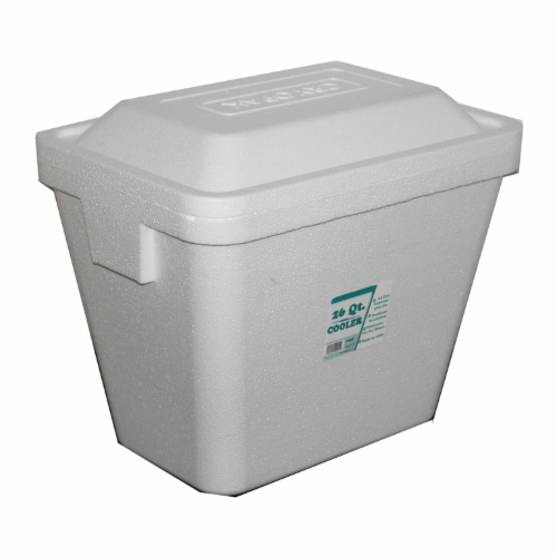 Cryopak Foam Cooler - White Perspective: right