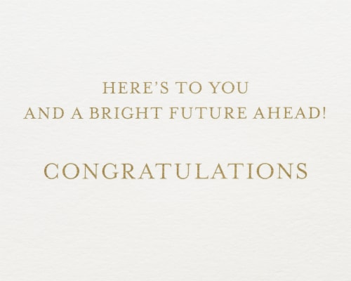 Papyrus Graduation Card (Bright Future) Perspective: right
