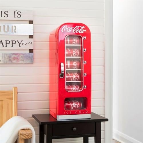 Koolatron Coca-Cola Official Design Push Button Vending Machine Mini Fridge Perspective: right