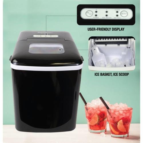 Koolatron Countertop Portable Auto Ice Maker Machine, 26 Pound Capacity, Black Perspective: right