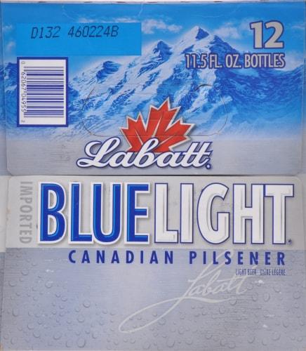 Labatt Blue Light Canadian Pilsner Perspective: right