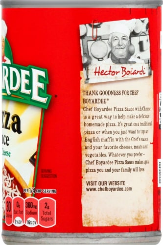 Chef Boyardee Pizza Sauce with Cheese Perspective: right