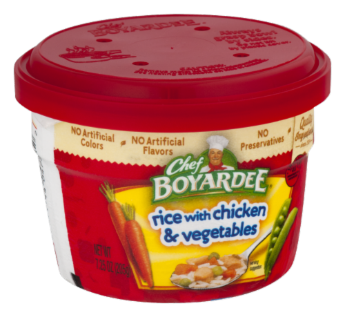 Chef Boyardee Rice with Chicken & Vegetable Microwavable Bowl Perspective: right