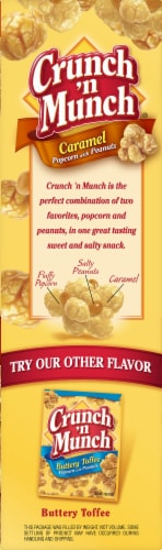 Crunch 'n Munch Caramel Popcorn with Peanuts Family Size Perspective: right