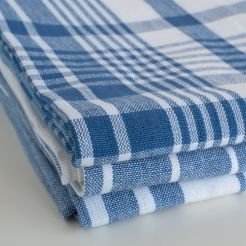 Now Designs Extra Large Wovern Cotton Kitchen Dish Towels Royal Blue Set of 3 Perspective: right