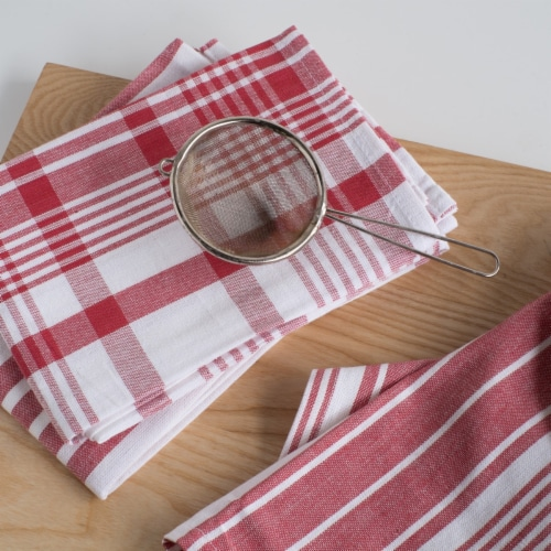 Now Designs Extra Large Red Wovern Cotton Kitchen Dish Towels Perspective: right
