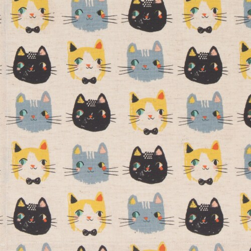 Danica Studio Coordinated Prints Meow Meow Cotton Linen Dish Towels Perspective: right