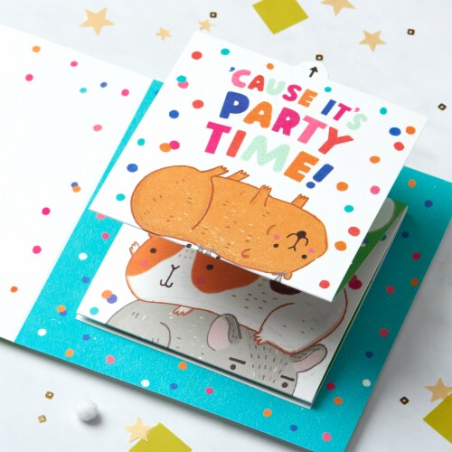 American Greetings Birthday Card for Kids (Paws) Perspective: right