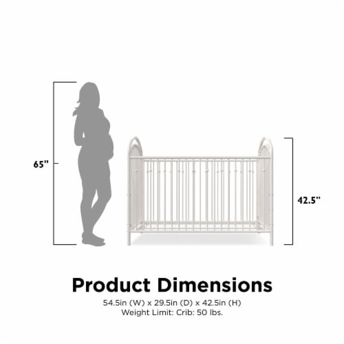 Little Seeds Aerin Metal Crib Perspective: right