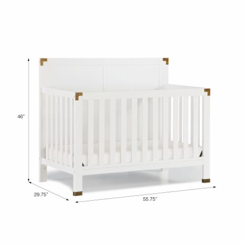 Baby Relax Miles 5-in-1 Convertible Crib, White Perspective: right