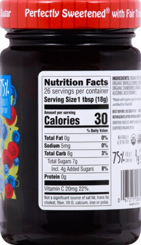 Crofter's Organic Blueberry Blast SuperFruit Spread Perspective: right