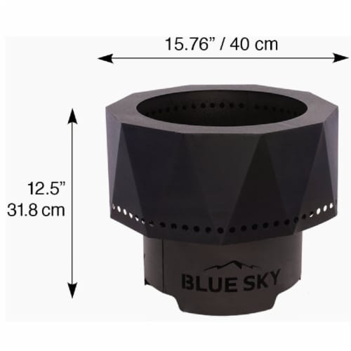 Blue Sky Ridge 15 In. Round Steel Wood/Pellet High Efficiency Fire Pit PFP1513 Perspective: right