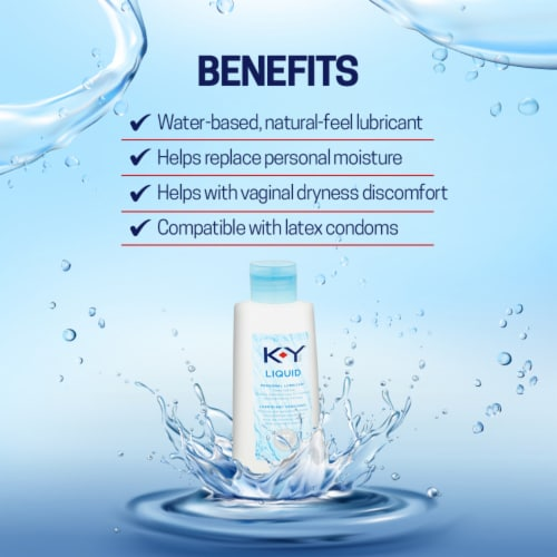 K-Y Smooth Classic Liquid Personal Lubricant Perspective: right