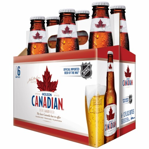 Molson Canadian Lager Beer Perspective: right