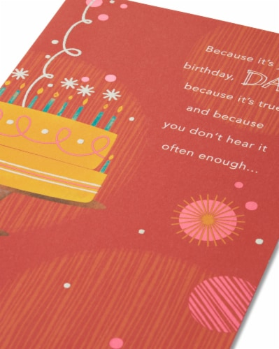 American Greetings Birthday Card for Dad (You're Loved) Perspective: right