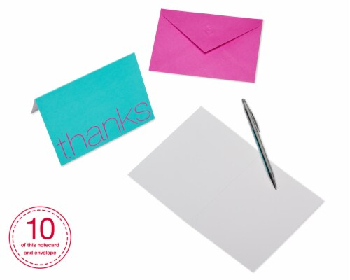 American Greetings Bold Multicolored Thank-You Cards with Envelopes Perspective: right