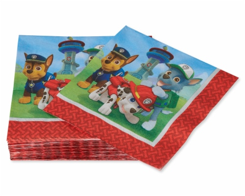 American Greetings Paw Patrol Paper Lunch Napkins Perspective: right
