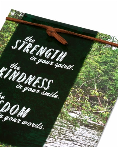 American Greetings Father's Day Card (Strength Kindness Wisdom) Perspective: right