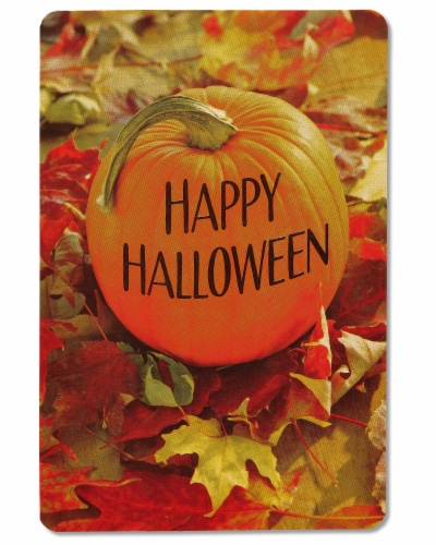 American Greetings Halloween Greeting Cards, 6-Count (Pumpkin) Perspective: right