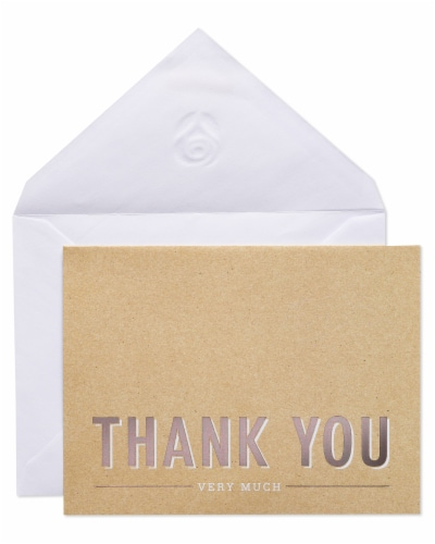 American Greetings #14 Thank You Kraft Stationery Perspective: right