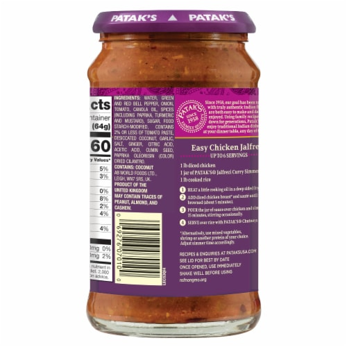 Patak Jalf'rezi Cooking Sauce Perspective: right