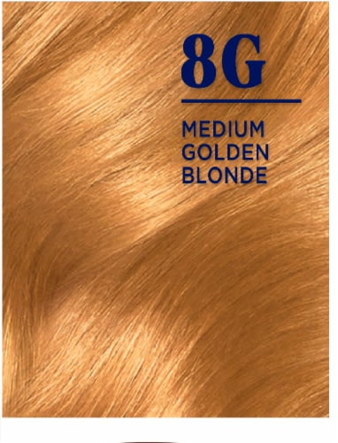 Clairol Nice'n Easy Permanent 8G Medium Golden Blonde Hair Color Perspective: right