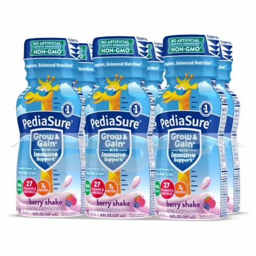 PediaSure Grow & Gain Berry Nutrition Shakes Perspective: right